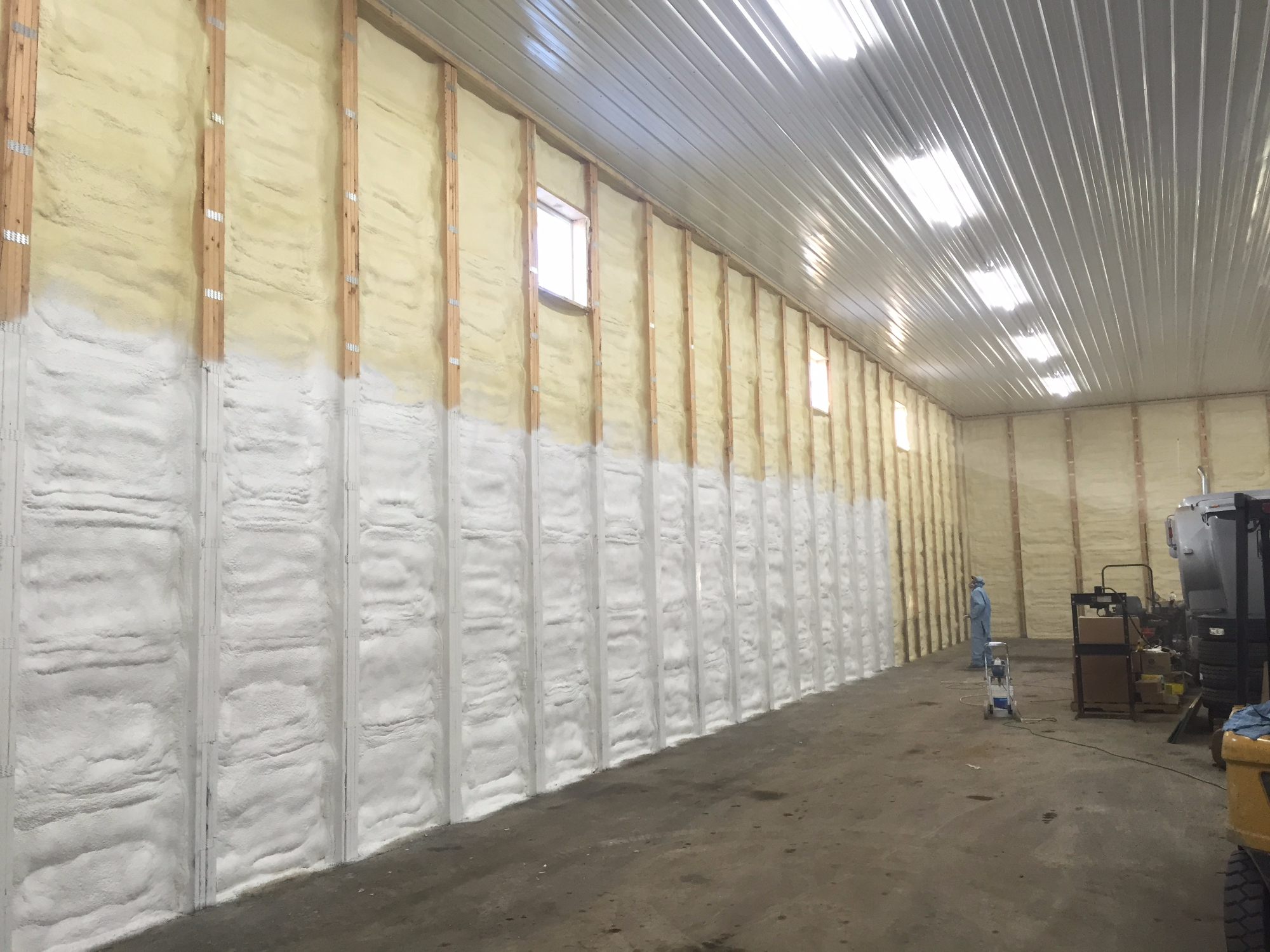 painting foam insulation
